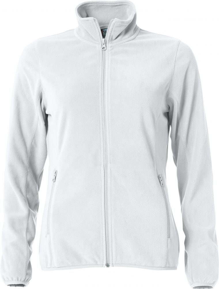 Clique Basic Micro Fleece Jacket Ladies valkoinen