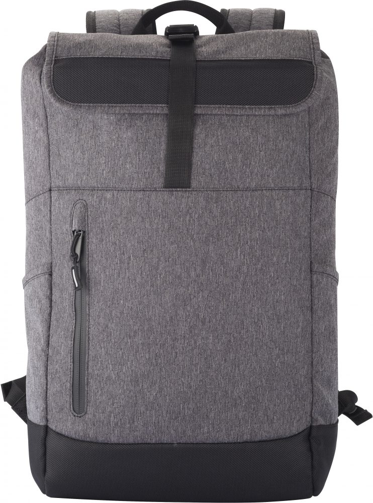 Clique Roll-Up Backpack Antracit melange