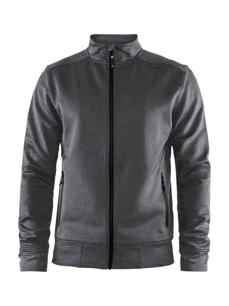 Craft Noble Zip Jacket M Dark Grey Melange/Black