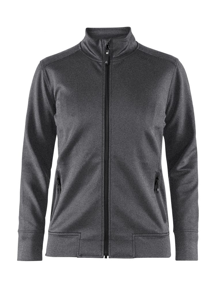 Craft Noble Zip Jacket W Dark Grey Melange/Black