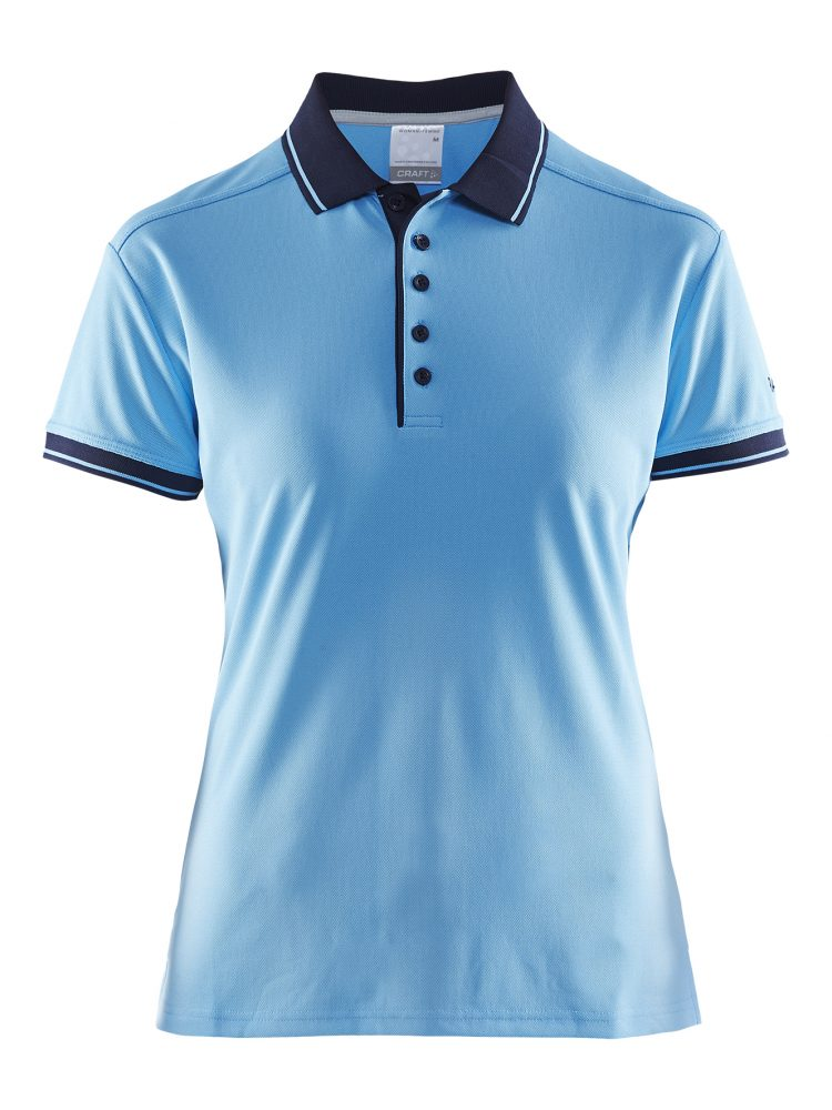 Craft Noble Polo Pique Shirt W Aqua/Navy