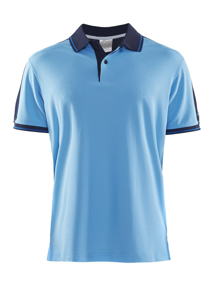 Craft Noble Polo Pique Shirt M Aqua/Navy
