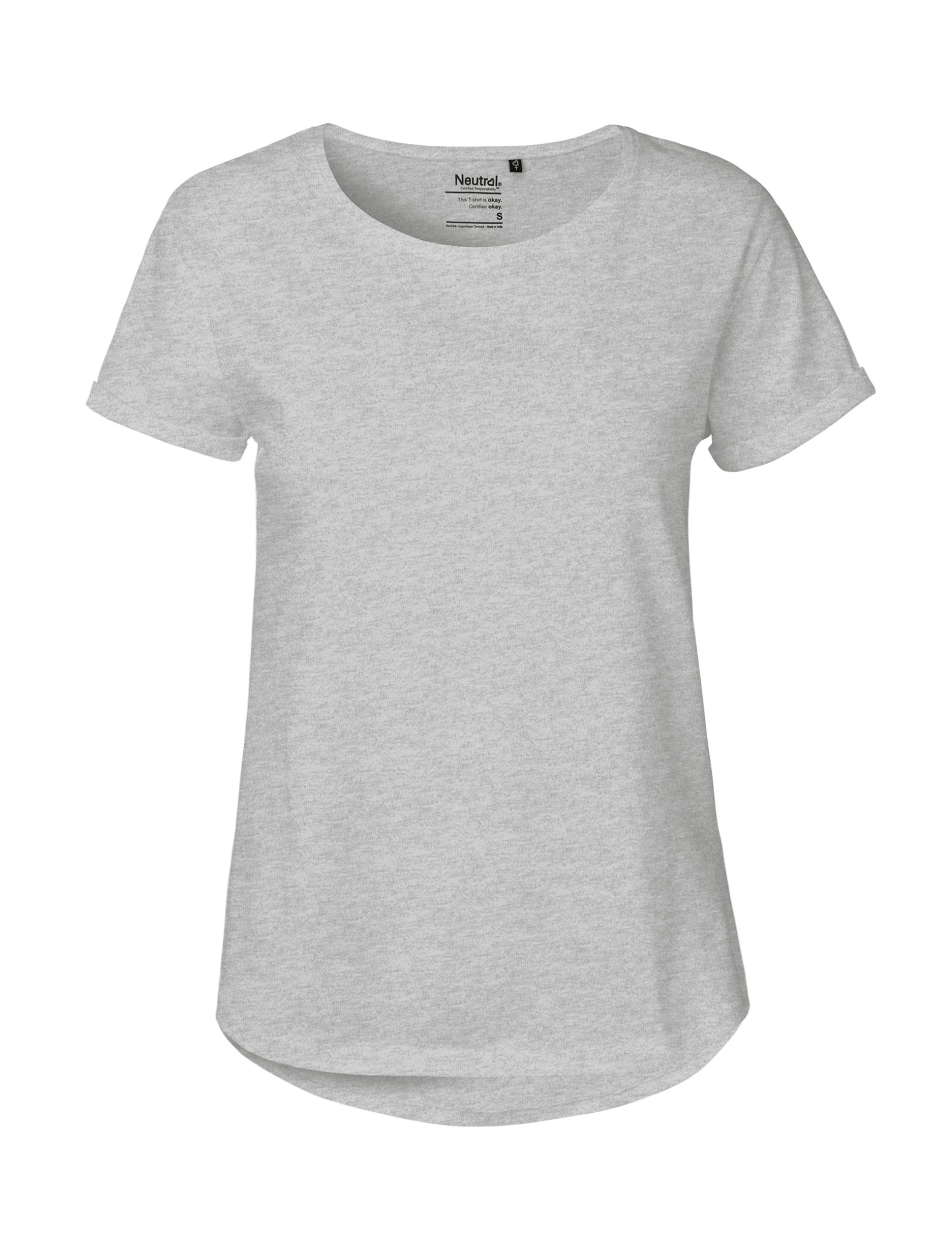 Neutral Ladies Roll Up Sleeve T-shirt Sport Grey