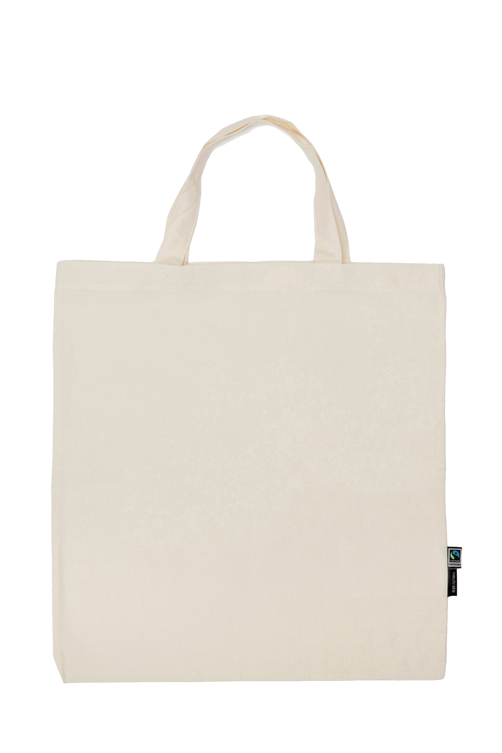 Neutral Shopping Bag w. Short Handles Nature