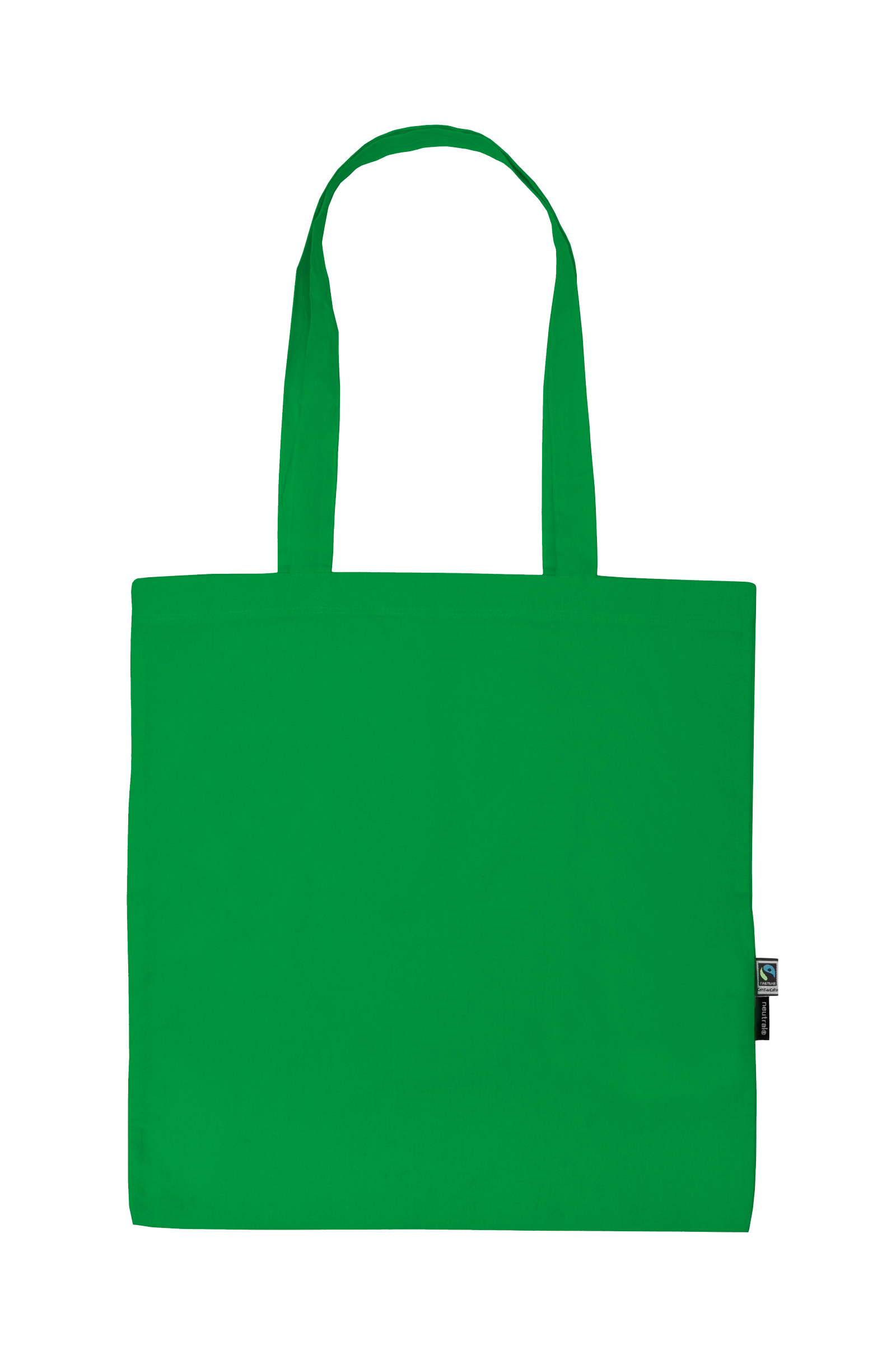 Neutral Shopping Bag w. Long Handles Green