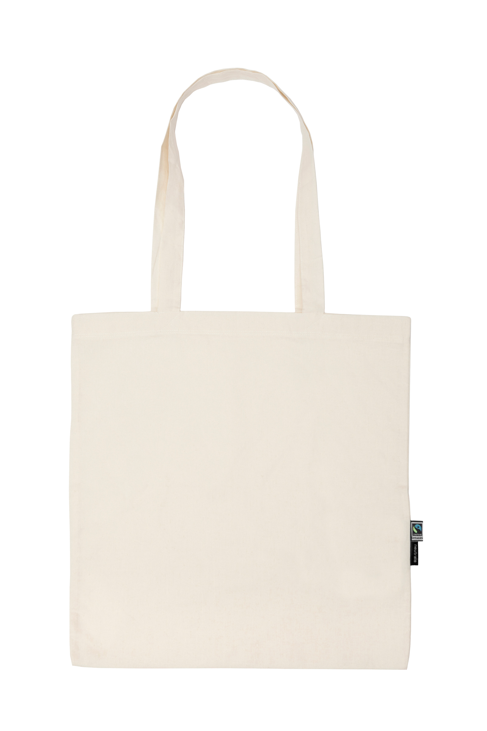 Neutral Shopping Bag w. Long Handles Nature
