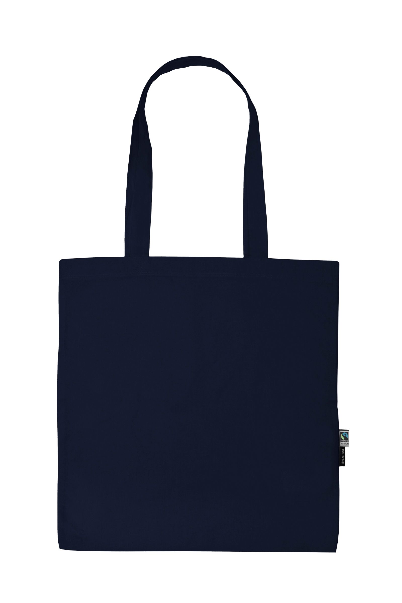 Neutral Shopping Bag w. Long Handles Navy
