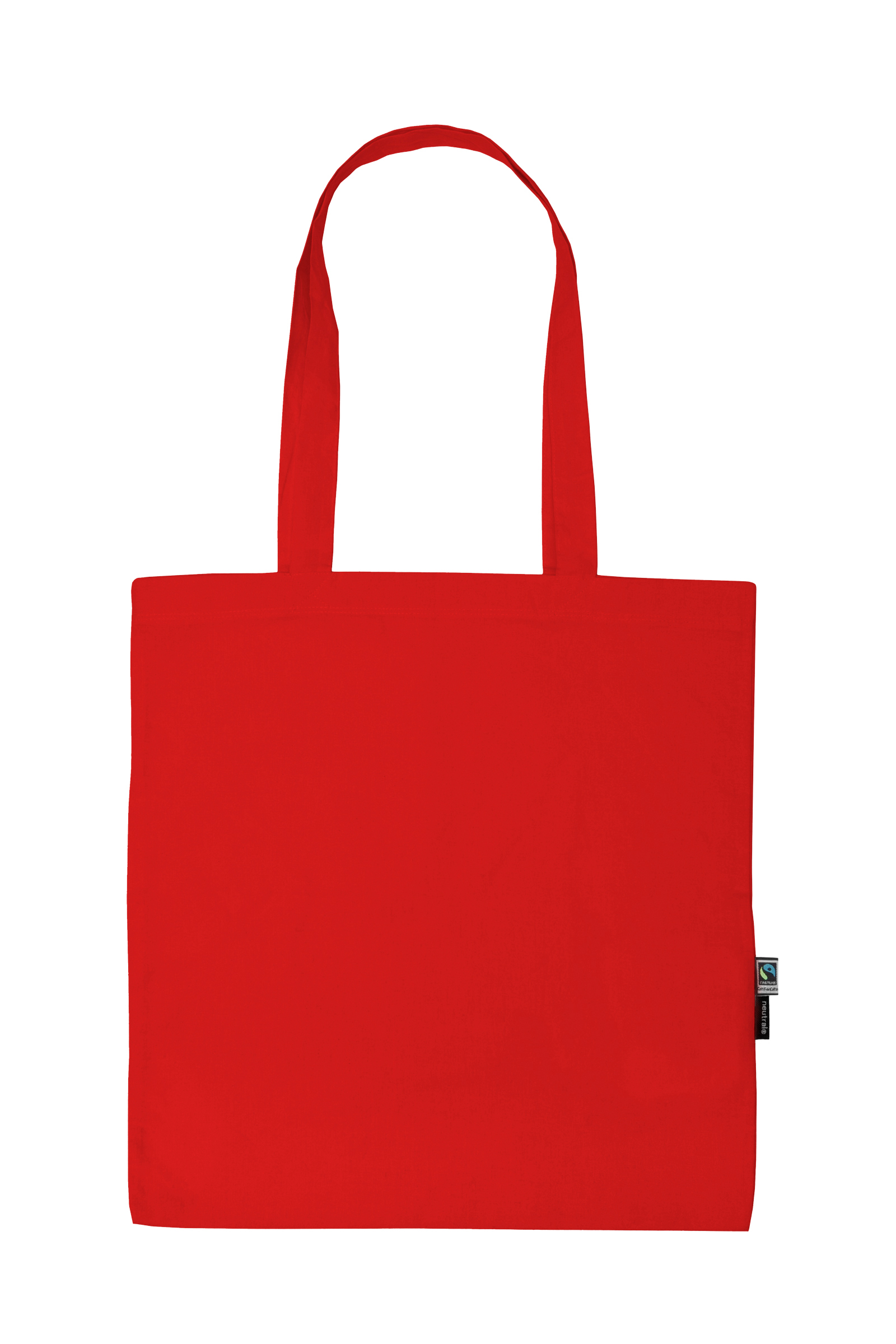 Neutral Shopping Bag w. Long Handles Red