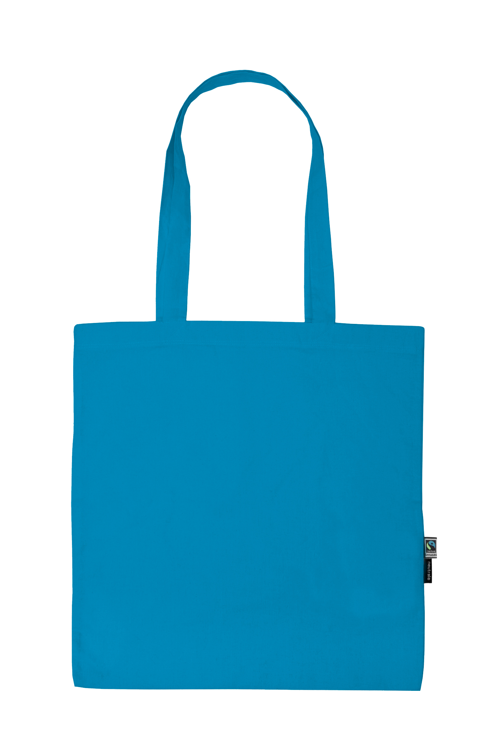 Neutral Shopping Bag w. Long Handles Sapphire