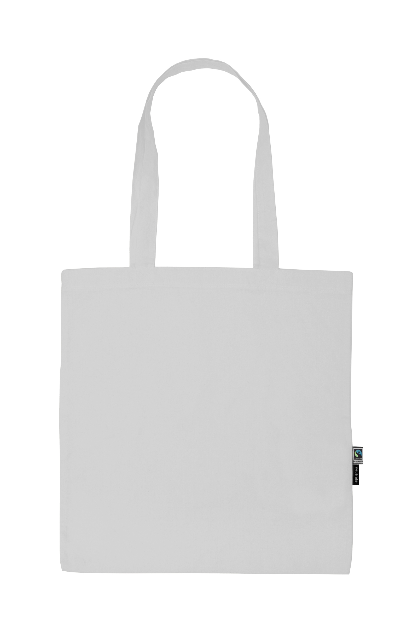 Neutral Shopping Bag w. Long Handles White