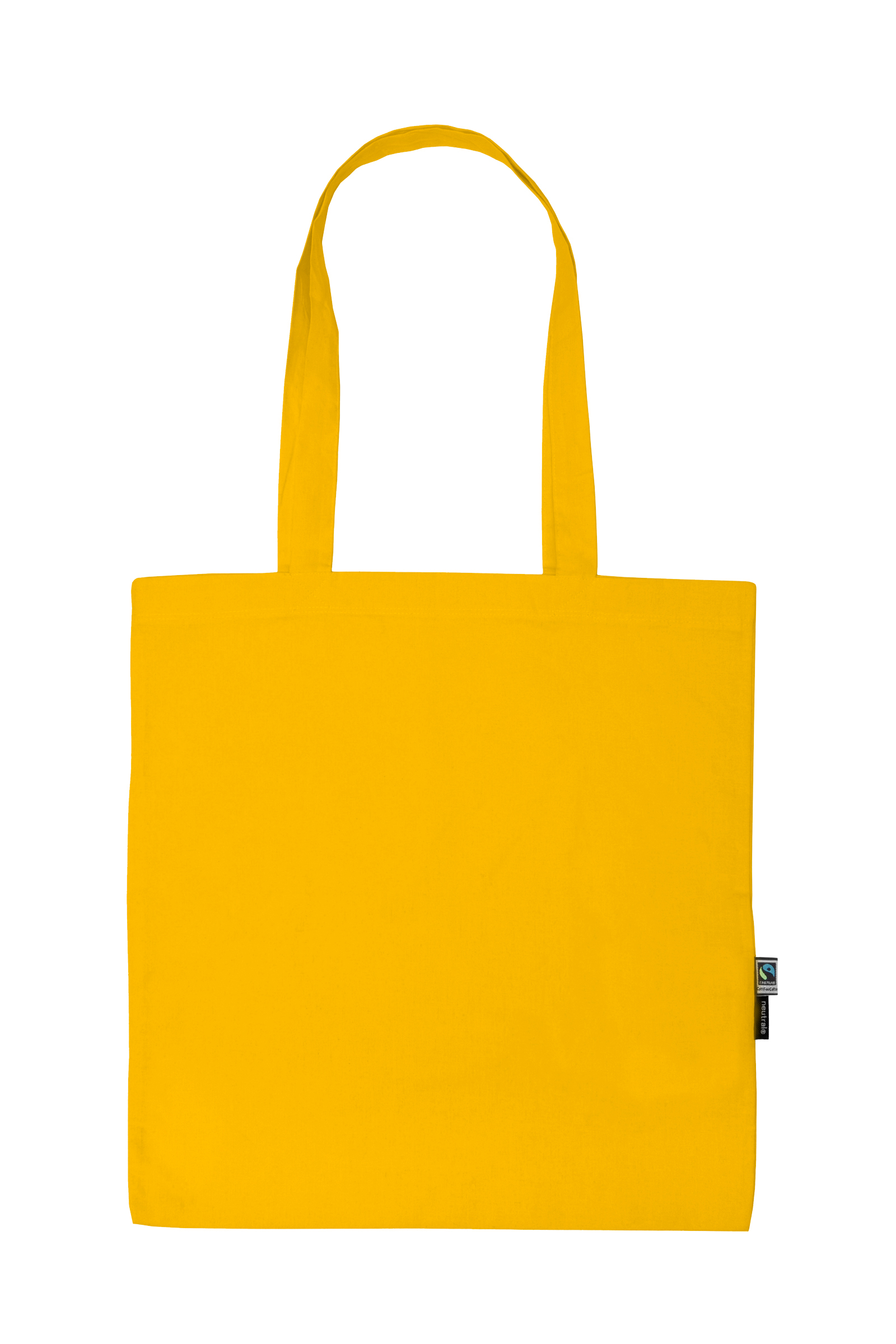 Neutral Shopping Bag w. Long Handles Yellow