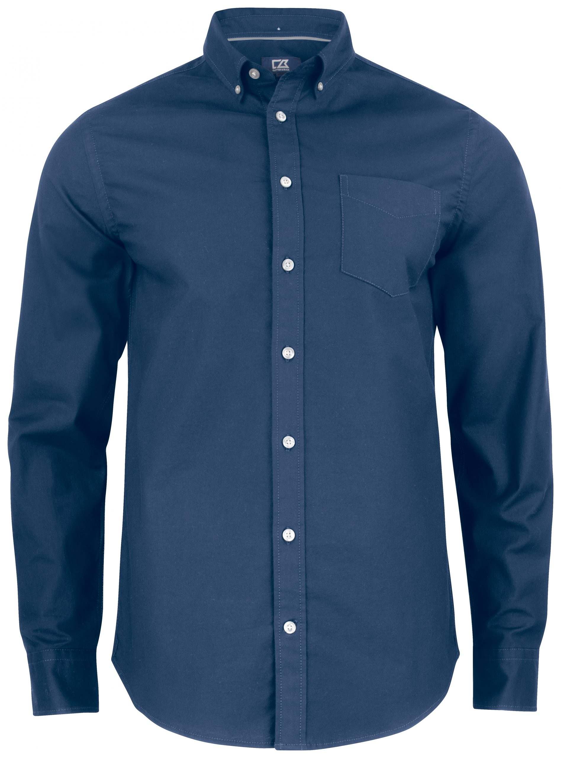 Cutterandbuck Hansville Shirt Men Blue Oxford