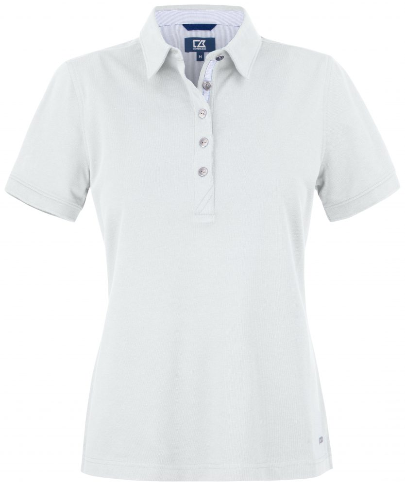 Cutterandbuck Advantage Premium Polo Ladies White